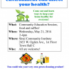 Community Health Education Session – May 21st
