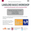 Landlord Basics Workshop – 11/19/15