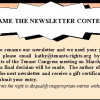 Rename the Newsletter Contest – Win a Gift Certificate