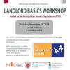 Landlord Basics Workshop – 11/19/15