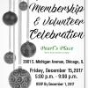 Membership & Volunteer Appreciation Celebration – 12/15/17
