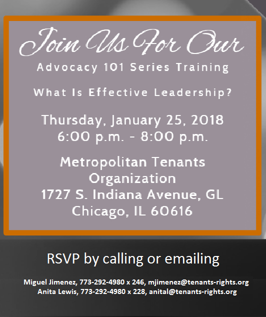 Training: What is Effective Leadership? – 1/25/18