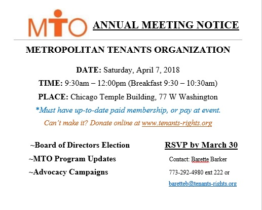 MTO 2018 Annual Meeting – 4/7/18