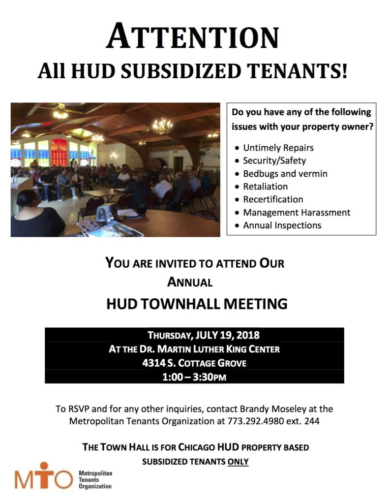 MTO Town Hall Meeting with HUD – 7/19/18