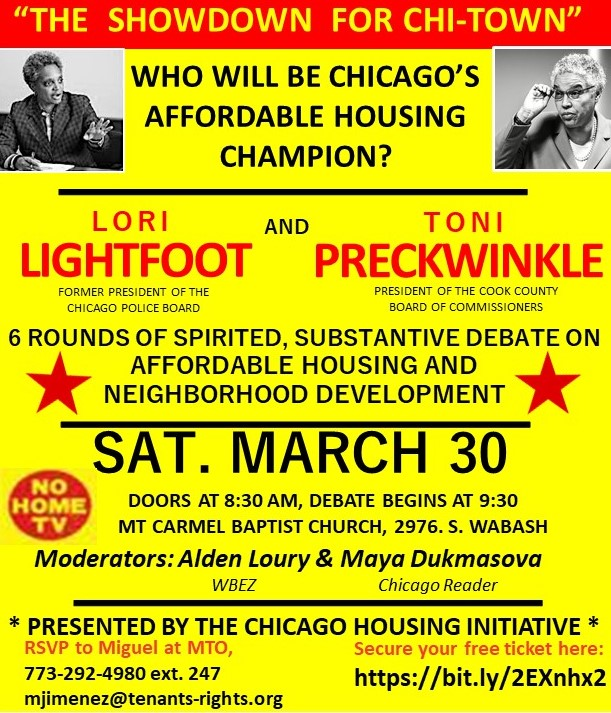 Mayoral Debate on Housing – 3/30/19