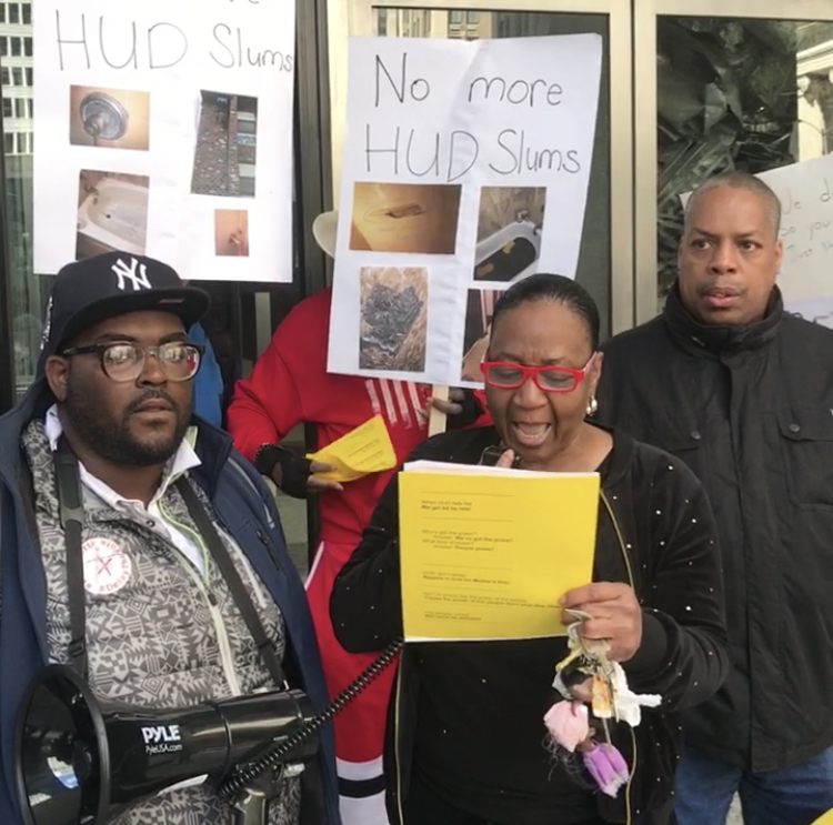 Tenants March on HUD HQ, Win Meeting with Top HUD Official