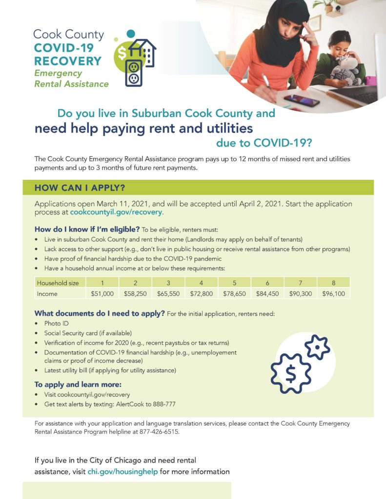 Do you live in Suburban Cook County and need help paying rent and utilities due to COVID-19?